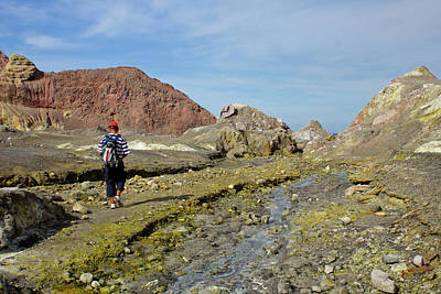 Photograph - Hiking White Island Volcano by Venetia Featherstone-Witty