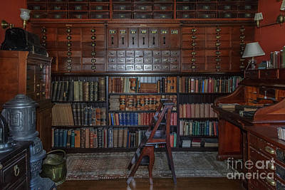 Photograph - Hildene Library by Mim White