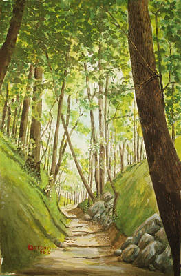 Painting - Hiling Path by Charles Hetenyi