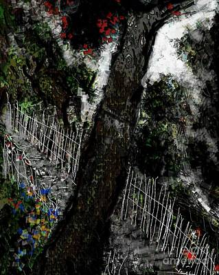 Digital Art - Hill And Jungles by Subrata Bose