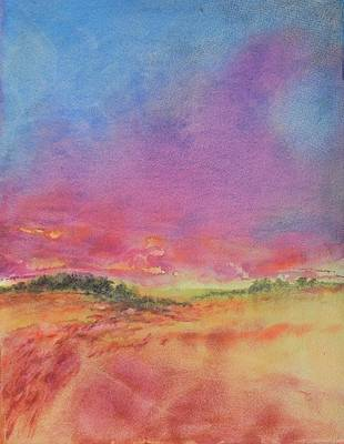 Hill Country Abstract No 8 Original by Virgil Carter