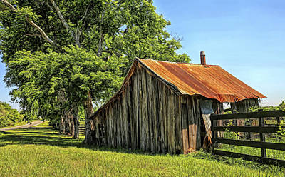 Photograph - Hill Country Barn by Judy Vincent