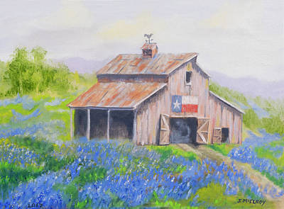 Hill Country Blues Art Print by Jerry McElroy