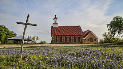 Hill Country Cross Art Print by Stephen Stookey