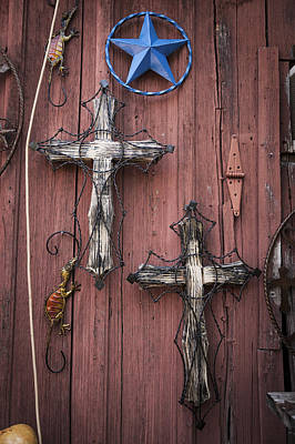 Hill Country Crosses Art Print