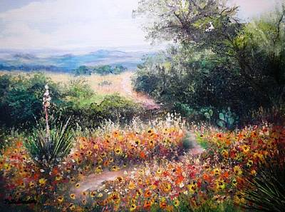 Painting - Hill Country Gone Wild by Patti Gordon