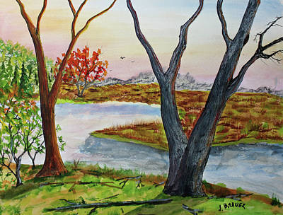 Painting - Hill Country by Jack G Brauer