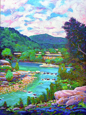 Wall Art - Painting - Hill Country River by Charles Wallis