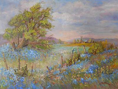 Lynn Burton Painting - Hill Country Texas by Lynn Burton