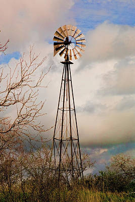 Photograph - Hill Country Windmill by Michael Flood