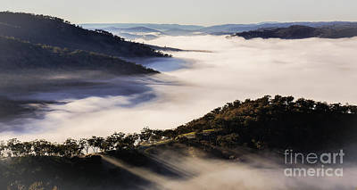 Photograph - Hill End Foggy Morning by Lexa Harpell