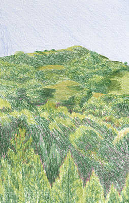 Hill Over Orinda Art Print by Bethany Lee