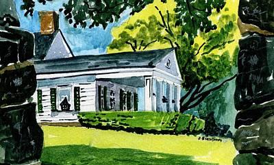 Painting - Hill-stead Porch by Jeff Blazejovsky