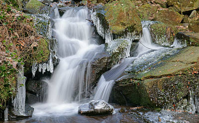 Photograph - Hill Stream And Ice by David Birchall