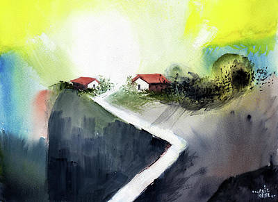 Painting - Hill Top by Anil Nene