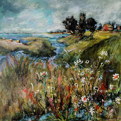 Painting - Hill Top Wildflowers by Sharon Furner