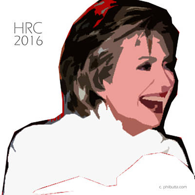 Graphics Painting - Hillary 2016 by Philip Butta