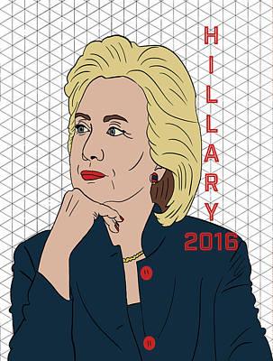Feminist Mixed Media - Hillary Clinton 2016 by Nicole Wilson