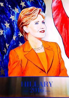 Hillary Clinton 2016 Original by Sasha Toporovsky