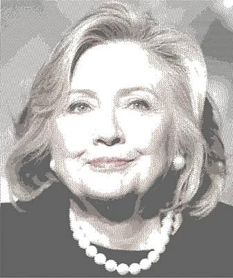 Hillary Clinton Drawing - Hillary Clinton - Cross Hatching by Samuel Majcen