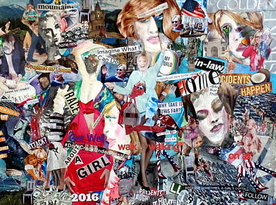 Politicians Mixed Media - Hillary Clinton Get Well/campaign Poster by Barb Greene Mann