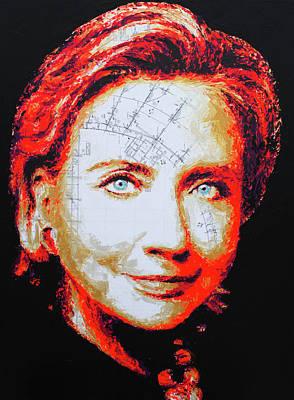 Painting - Hillary Clinton by Havi Art