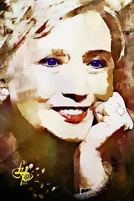 Hillary Clinton Art Print by Lynda Payton