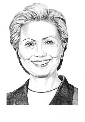 Hillary Clinton Art Print by Murphy Elliott