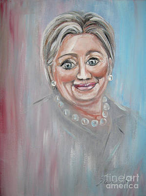 Painting - Hillary Clinton. Original Painting by Oksana Semenchenko