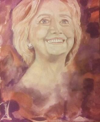 Hillary Clinton Painting - Hillary Clinton by Raymond Doward