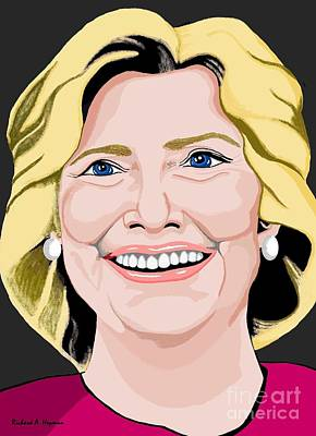 Hillary Clinton Original by Richard Heyman