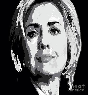Painting - Hillary Clinton by Saundra Myles
