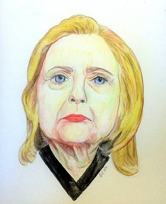 Liberal Painting - Hillary Clinton by Scott Emerling