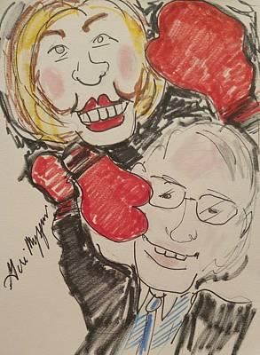 Hillary Clinton Painting - Hillary Clinton Vs Bernie Sanders by Geraldine Myszenski