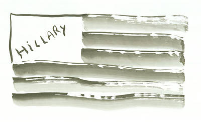 Hillary Clinton Painting - Hillary For President by Russ Mead