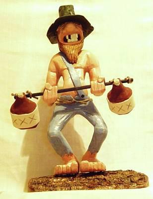 Hillbilly Weightlifter Original by Russell Ellingsworth