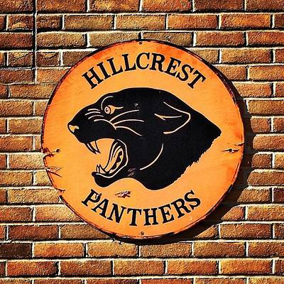 Photograph - Hillcrest Panthers Sign by Chris Brown