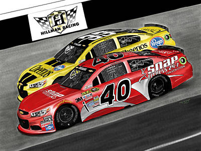Hillman Digital Art - Hillman Racing Sprint Cup Series '15 by Myke  Irving