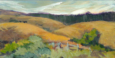 Hills Above Silicon Valley Art Print by Barbara Moore