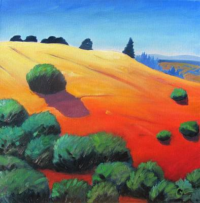 Windy Hill Painting - Hills And Beyond by Gary Coleman