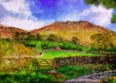 Country Road Digital Art - Hills And Dales by Lois Bryan