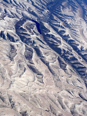 Hills And Valleys Aerial Art Print by Carol Groenen