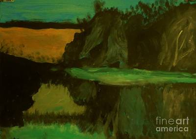 Painting - Hills And Valleys And Lakes by Marie Bulger