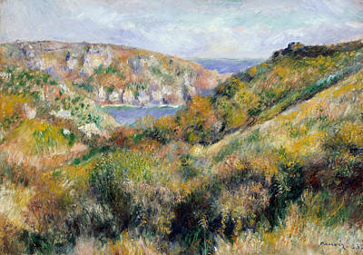 Painting - Hills Around The Bay Of Moulin Huet, Guernsey by Auguste Renoir