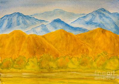 Painting - Hills Blue And Yellow by Irina Afonskaya