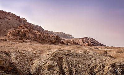 Photograph - Hills By The Dead Sea by Endre Balogh