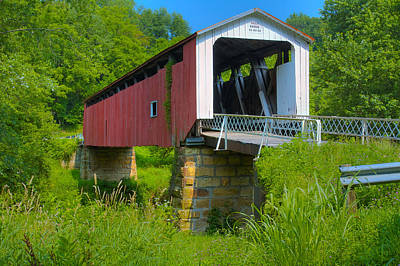 Music Royalty-Free and Rights-Managed Images - Hills Covered Bridge by Jack R Perry
