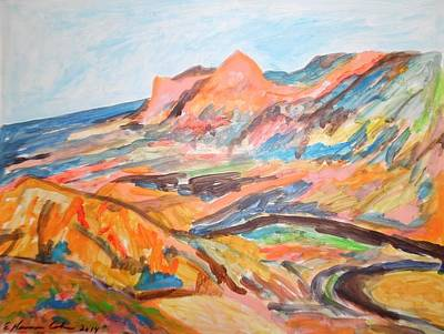 Painting - Hills Flowing Down To The Beach by Esther Newman-Cohen