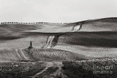 Hills From Val D'orcia, Tuscany Art Print by Luigi Morbidelli