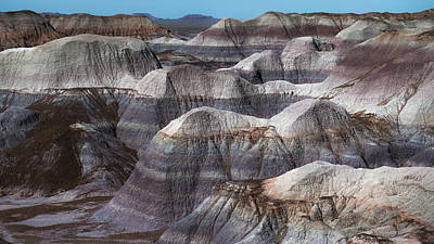 Petrified Forest Arizona Photograph - Hills Of Blue Mesa by Joseph Smith